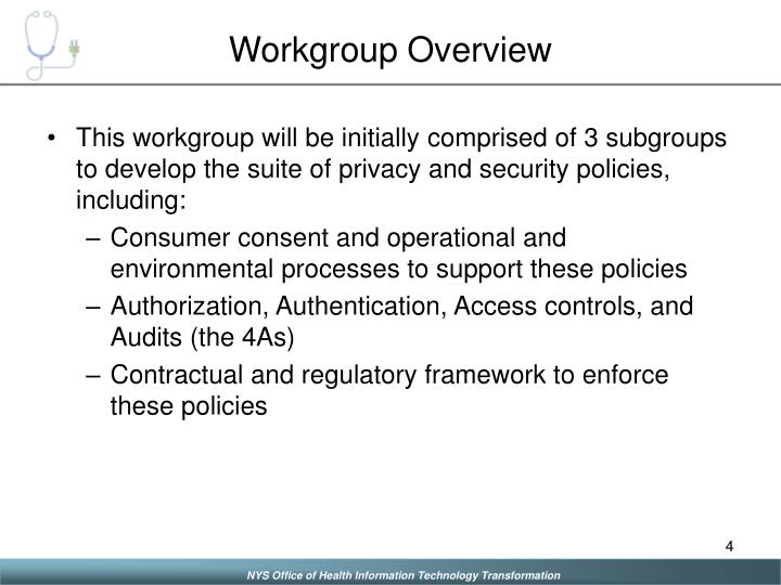 Workgroup Overview