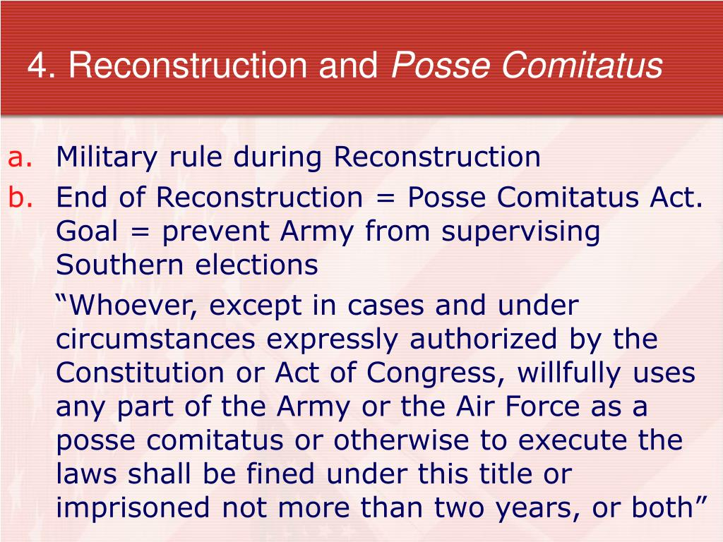 4. Reconstruction and