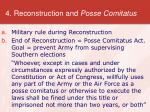 4 reconstruction and posse comitatus