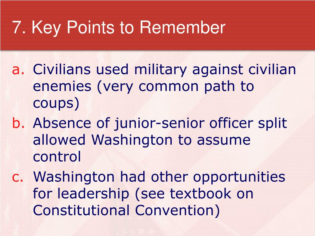 7. Key Points to Remember
