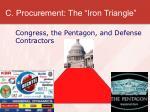 c procurement the iron triangle