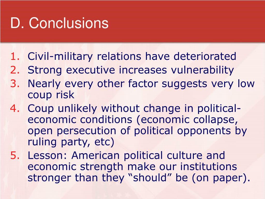 D. Conclusions