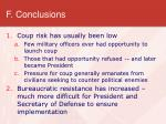 f conclusions