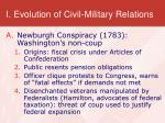 i evolution of civil military relations