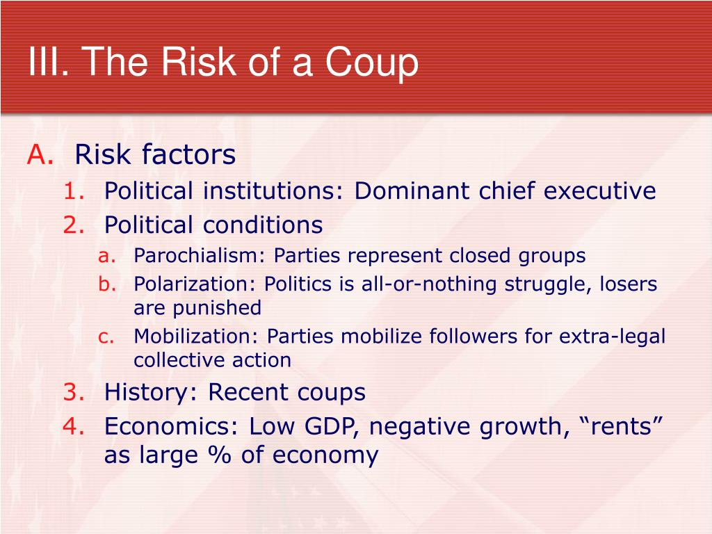III. The Risk of a Coup