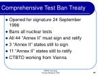 comprehensive test ban treaty