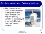 fissile materials and delivery vehicles