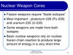 nuclear weapon cores