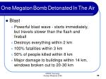 one megaton bomb detonated in the air30