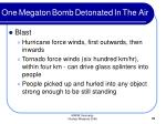 one megaton bomb detonated in the air31