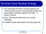 terrorism and nuclear energy