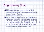 programming style13