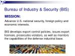 bureau of industry security bis
