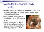 counterfeit electronics study goals