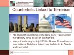 counterfeits linked to terrorism