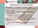 definitions of counterfeit