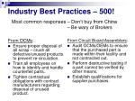 industry best practices 500