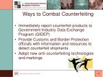 ways to combat counterfeiting13