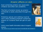 arsenic effects on skin