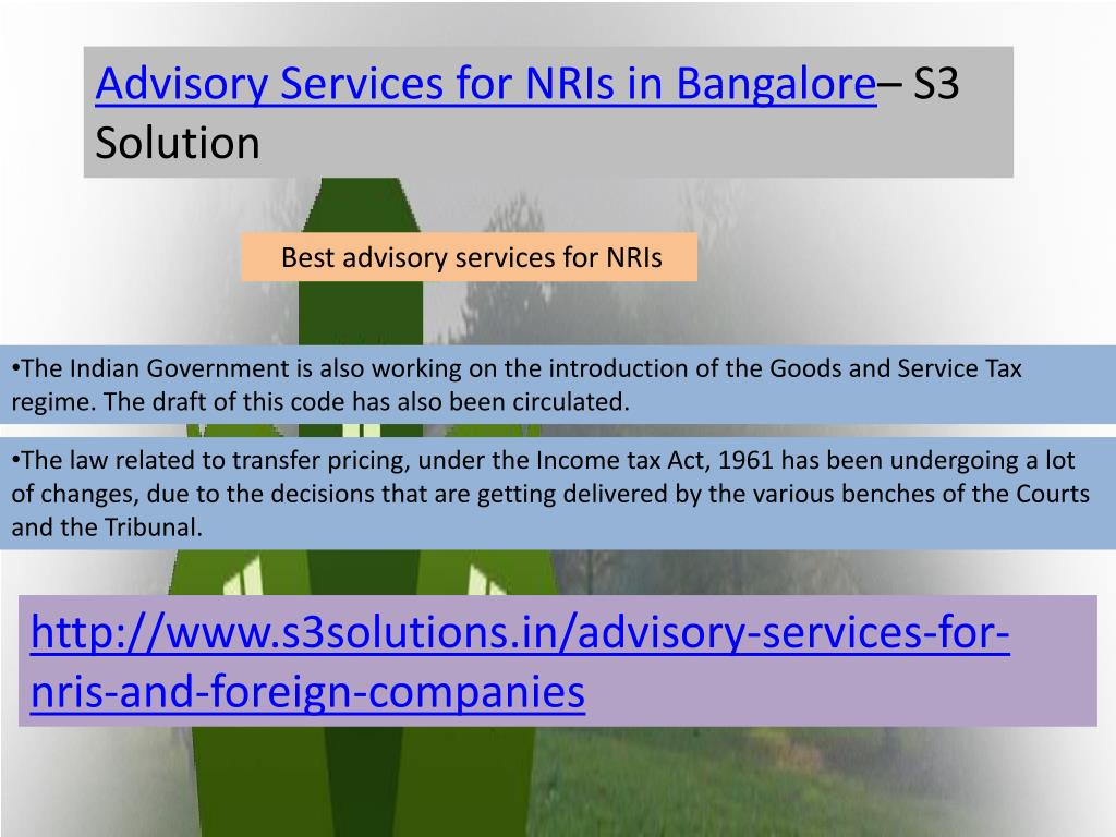 Advisory Services for NRIs in Bangalore