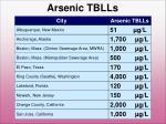 arsenic tblls