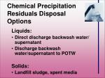 chemical precipitation residuals disposal options