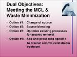 dual objectives meeting the mcl waste minimization