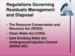 regulations governing residuals management and disposal