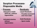 sorption processes disposable media