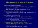 measurements of arsenic exposure