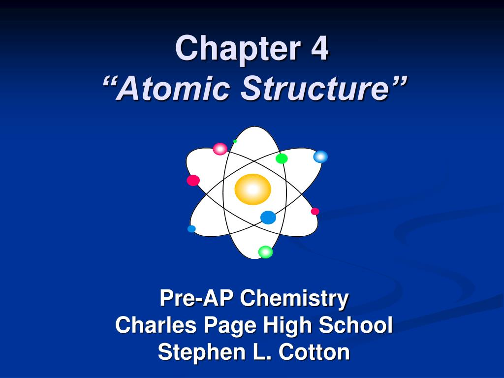 chapter 4 atomic structure l.