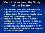 conclusions from the study of the electron