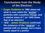 conclusions from the study of the electron15