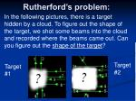 rutherford s problem