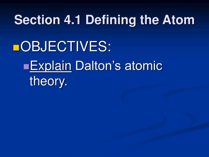 Section 4 1 defining the atom3