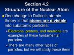 section 4 2 structure of the nuclear atom10