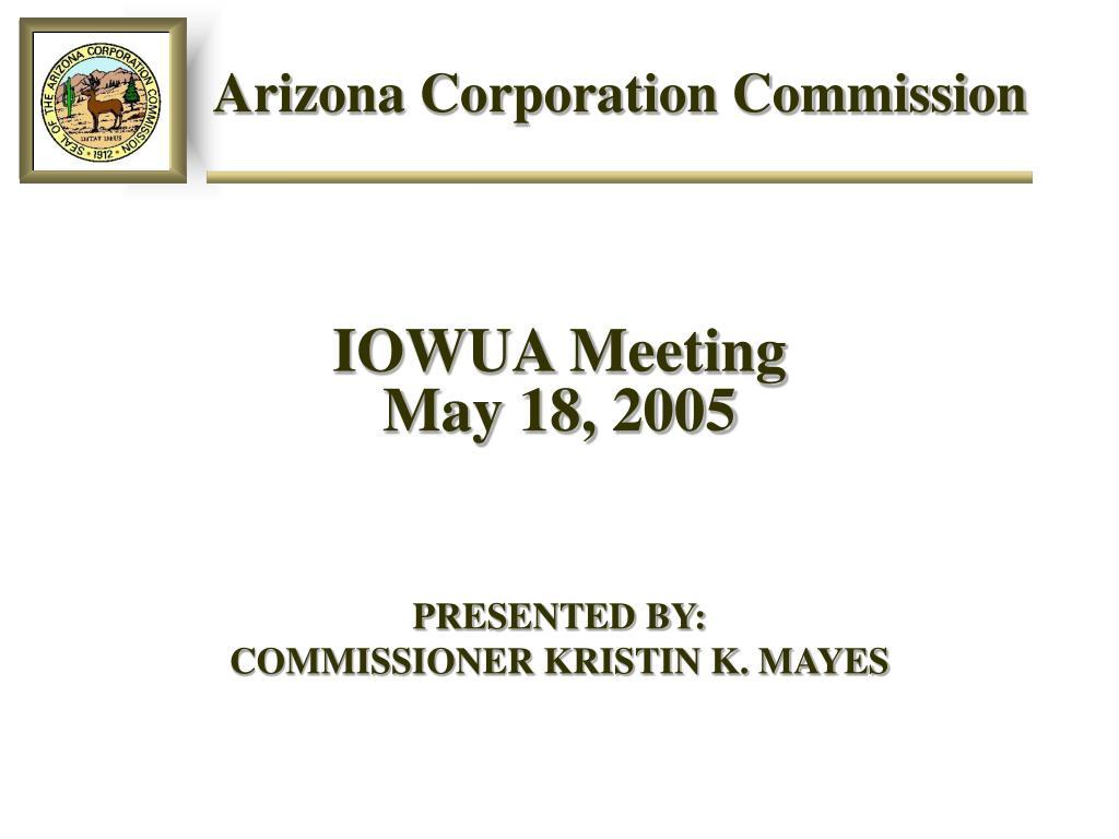 arizona corporation commission l.