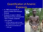 quantification of arsenic exposure