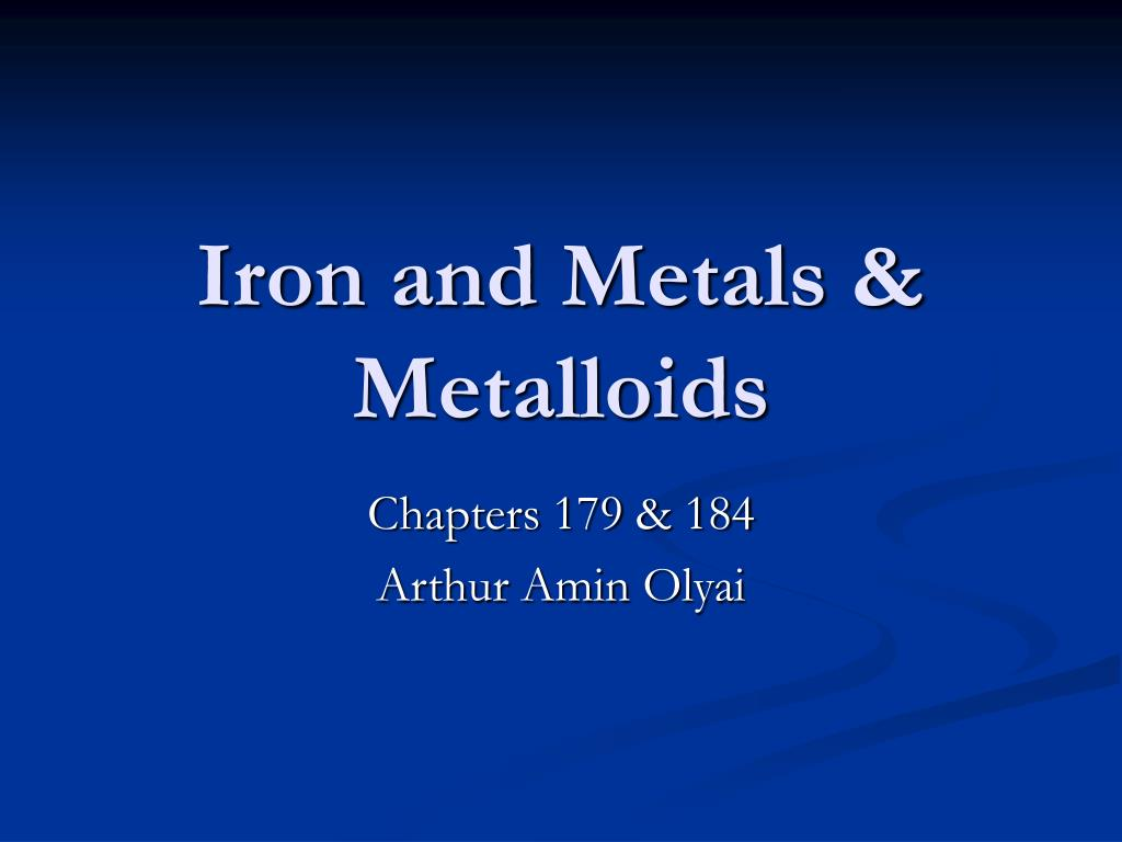iron and metals metalloids l.