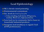 lead epidemiology
