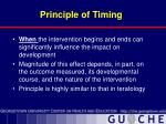 principle of timing