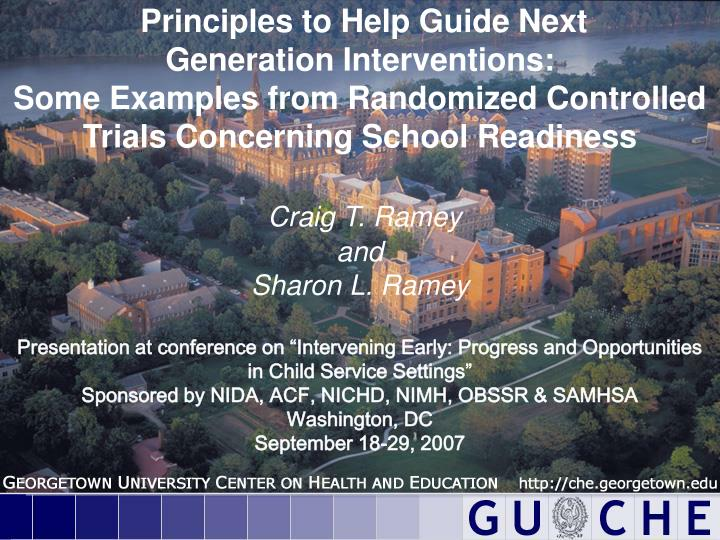 Principles to Help Guide Next