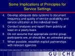 some implications of principles for service settings26