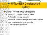 unique esh considerations epitaxy13