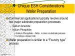 unique esh considerations wafer preparation