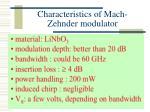 characteristics of mach zehnder modulator