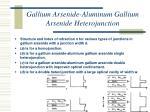 gallium arsenide aluminum gallium arsenide heterojunction