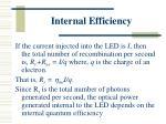 internal efficiency