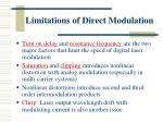 limitations of direct modulation