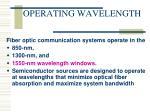 operating wavelength